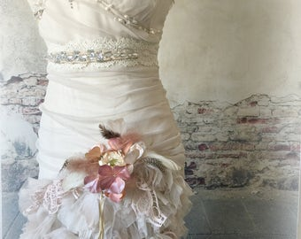 boho wedding dress cottage chic dress altered couture