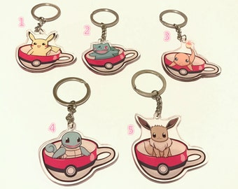 Pokecup - Pokemon in a cup Acrylic Keychain by Nano Angels (ita bag)