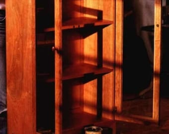 Shaker Style Bookcase With Doors Woodworking Plans