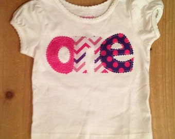 PInk and Purple Birthday Shirt or Baby Bodysuit