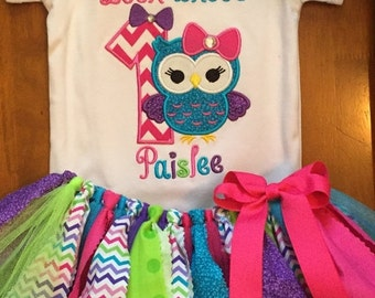 Look Whoo's Owl Birthday Tutu Outfit