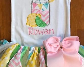 Mason Jar Pink Lemonade Tutu Outfit