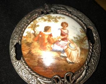 Porcelain Brooch