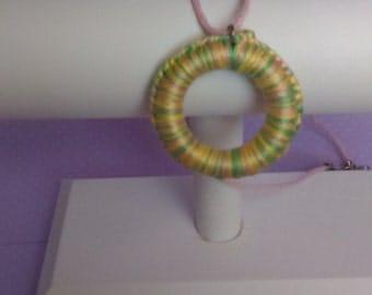 Unique Braided Charm Necklace