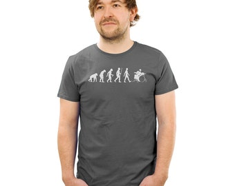 Evolution of drumming shirt evolve shirt drummer tshirts funny tees gifts for drummers funny percussion tshirts