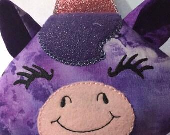 Purple plush Unicorn