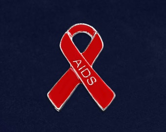 25 AIDS Awareness Pins in Bags (25 Pins) (P-29-6AI)