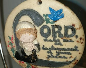 Boy with Lamb Resin Ornament