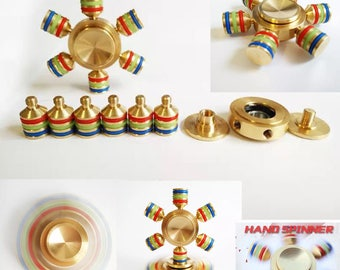 Buy 2 Get 1 FREE SPINNER FIDGET Metal Brass Spinner High Quality Metal Fidget Spinner Stress Relief Spinner