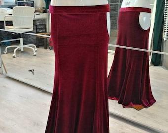 Dark red mermaid skirt