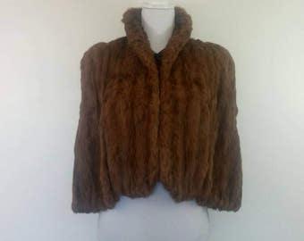 Vintage 40s Fur Caplet Cape