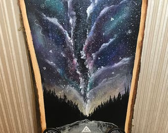 Galaxy on Wood [Large]