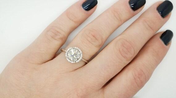 1.67 ct Diamond Engagement Ring-White Gold Ring-Engagement Ring