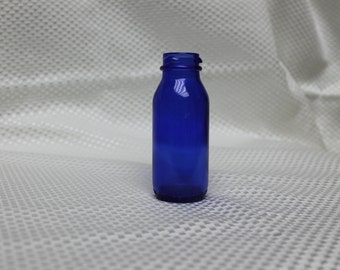 C. 1920! Old Cobalt Blue Bromo Seltzer Bottle by Maryland Glass Company