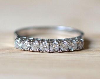 Diamond Anniversary Band - Vintage Wedding Band - Vintage Anniversary Band - Size 5 Wedding Ring - Vintage Diamond Wedding Ring