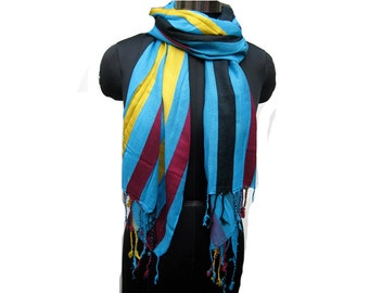 Fashion scarf/ multicolored scarf/  striped scarf/ cotton scarf/ gift scarf / accessories/  gift ideas.