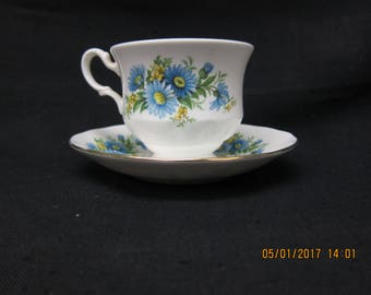 Queen Anne English Bone China Cup and Saucer