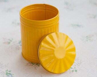 Miniature Rubbish Bin in Yellow - Trash Can Trinket Box