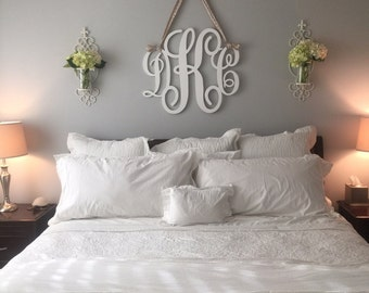 wall hangings for bedroom. Painted Wooden Monogram  Wood Letters Wall Hanging Door Hanger MR and Mrs Decor Bedroom Home