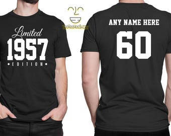 1957 Limited Edition 60th Birthday Party Shirt, 60 years old shirt, limited edition 60 year old, 60th birthday party tee shirt