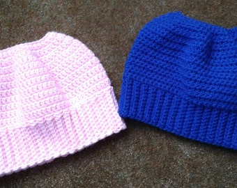 Ponytail Hat / Messy Bun Hat for Teens and Adults / Great for Runners! - Choose your own colors!
