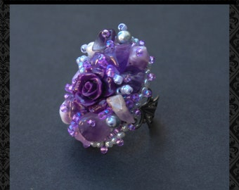 Rings - Ring in handmade - Unique  rings - Gifts for her - Christmas gift - women - Beaded jewelry
