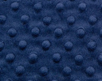 Navy Blue Minky Dot - Cuddle Dot by Shannon Fabrics - by the Yard - Fat Quarter - Fat Half - Extra Wide