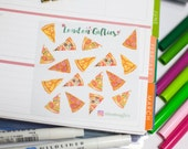 Pizza time - decorative watercolour planner stickers suitable for any planner -271-