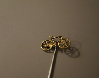 Vintage Bicycle Stick Pin for Neck Tie or Scarf