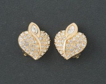 Vintage Swarovski Earring   Hearts