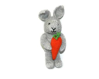Knit bunny toys for boys easter gifts boy easter decoration baby gift girl nursery decor for girl room easter basket birthday gift