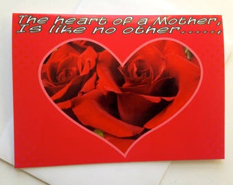 Valentineu0027s Day Card For Mother   Sentimental Valentine For Mom   Sweet  Valentine Card   Motheru0027s