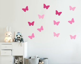 Butterflies Decal - Choose Your Color, Butterfly Decals, Stickers, Wall Decal.