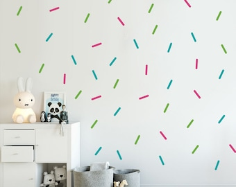 Sprinkles Decals   Choose Your Color, Wall Decals Nursery, Tiny Lines  Decal, Confetti Part 49