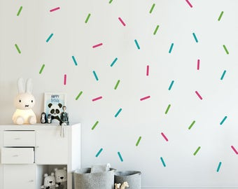 Sprinkles Decals - Choose Your Color, Wall Decals Nursery, Tiny Lines Decal, Confetti decals, Sprinkles Stickers, Sprinkles Wall Decal