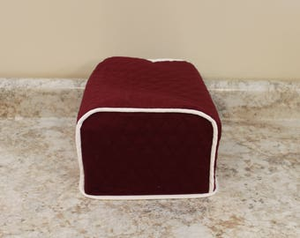 CPAP Cover/BIPAP Cover 600+ Color Combos - Custom Fit - Any brand/Model!  (Burgundy/Lt Cream Shown) Great Gift for Holidays! Gift under 35