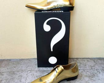 MOSCHINO gold shoes