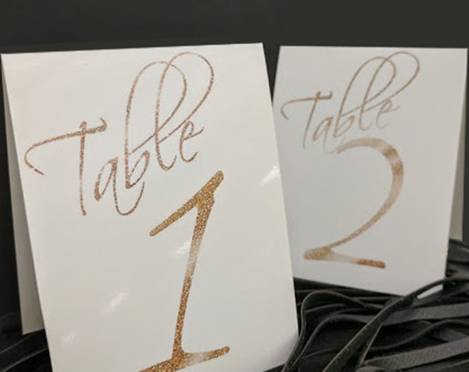 TENTED TABLE NUMBERS 13-24-Printable-moonlit collection-instant download - diy - white and glitter gold