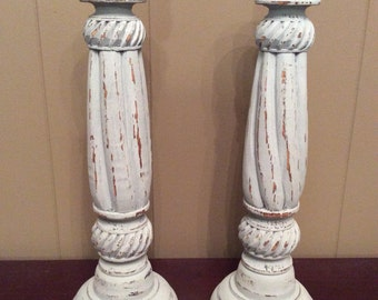 Wooden Candlesticks