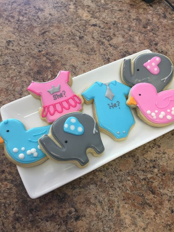Gender Reveal Cookies