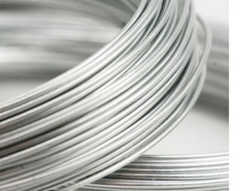 Argentium Silver Round Wire Half Hard Or Dead Soft 12 14 16 18 20 22 24 26 28 Gauge Made In USA