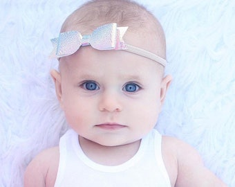 """Color Changing Bows - 4"""" Bows - Hair Bows - Nylon Bands - Alligator Clips - One Size Fit All - Baby Headbands - Camelon Bows"""