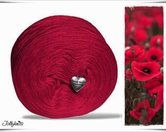 Solid Yarn Merino Carmine Red 1'000m