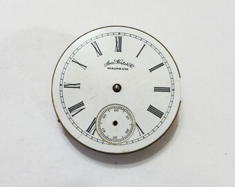 Antique, Waltham, Pocket Watch, Movement, Dial, 1s, Seaside, Steampunk, Mixed Media, Jewelry, Beading, Supply, Supplies