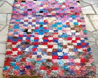 """Moroccan rug boucherouite 405 (boucharouette) 76 1/2 x 41 1/3"""""""