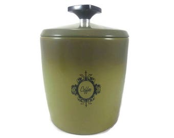 West Bend Coffee Canister Made in USA Vintage Kitchen Storage