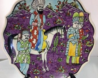 Kutahya Sayha Gini Turkish Pottery Plate