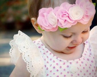 Baby Headbands,Baby girl Headband,Newborn Headband, Chic Flower Headband, birthday Headband, Baby Headbands, Hair