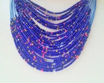 Free shipping! New spring look Beaded necklace Bib necklace Ukrainian jewelry Ukrainian style Gift from Ukraine