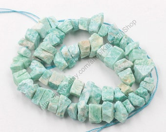 Raw Amazonite Beads -- chip nugget loose bead MHA-125